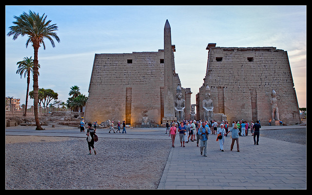 Luxor Temple front